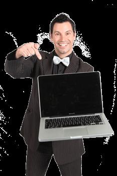 Magicien Danys Hamel et ordinateur